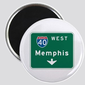 Memphis, TN Highway Sign Magnet