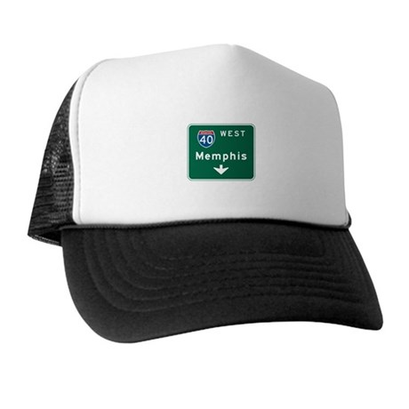 Memphis, TN Highway Sign Trucker Hat