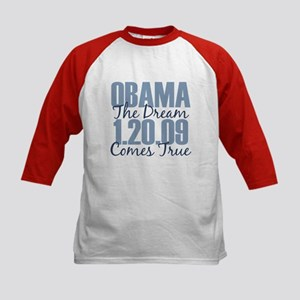 Obama The Dream Comes True Kids Baseball Jersey
