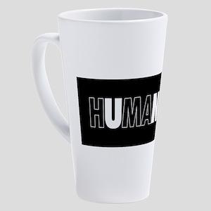 Unity Humanity (white on black) 17 oz Latte Mug