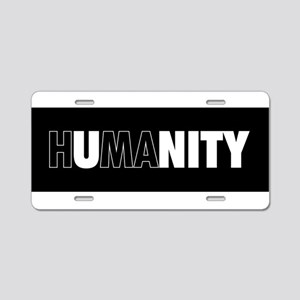 Unity Humanity (white on bl Aluminum License Plate