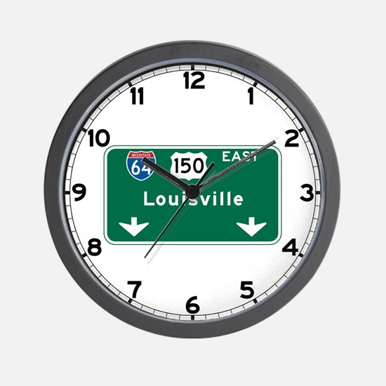 Louisville, KY Highway Sign Wall Clock