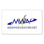 MemphisWeather.net Logo Rectangle Sticker 10 pk)
