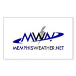 MemphisWeather.net Logo Rectangle Sticker 10 pk)