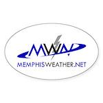 MemphisWeather.net Logo Oval Sticker (10 pk)