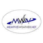 MemphisWeather.net Logo Oval Sticker