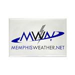 MemphisWeather.net Logo Rectangle Magnet (10 pack)