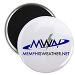 "MemphisWeather.net Logo 2.25"" Magnet (10 pack"