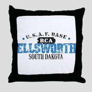 Ellsworth Air Force Base Throw Pillow