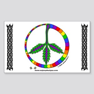 Indican Peace - Rectangle Sticker