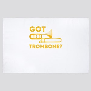 Funny Got Trombone Player Musician Orc 4' x 6' Rug