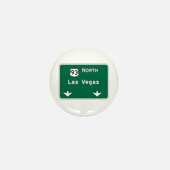 Las Vegas, NV Highway Sign Mini Button