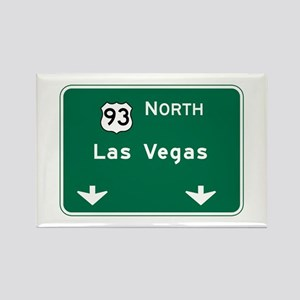 Las Vegas, NV Highway Sign Rectangle Magnet