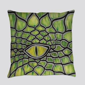 Green Dragon Everyday Pillow