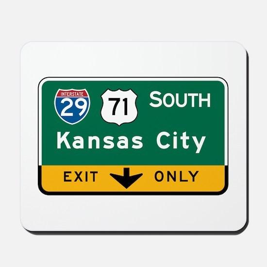 Kansas City, MO Highway Sign Mousepad
