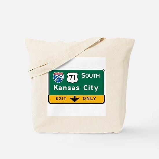 Kansas City, MO Highway Sign Tote Bag