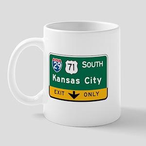 Kansas City, MO Highway Sign Mug
