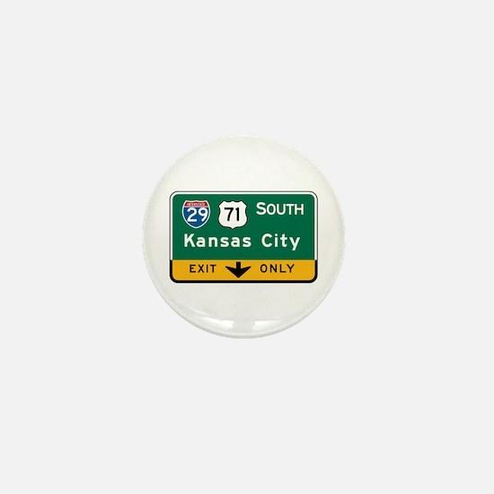 Kansas City, MO Highway Sign Mini Button