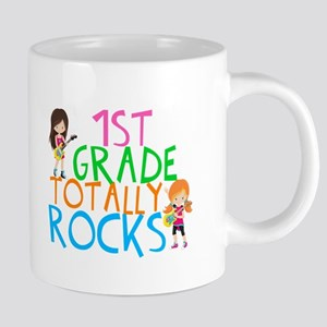 1st Grade Rocks 20 oz Ceramic Mega Mug