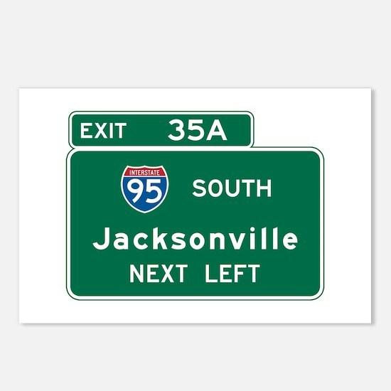 Jacksonville, FL Highway Sign Postcards (Package o