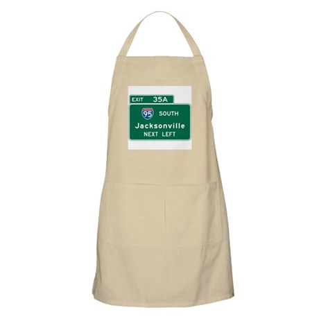 Jacksonville, FL Highway Sign BBQ Apron