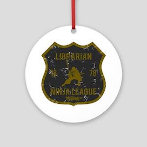 Librarian Ninja League Ornament (Round)