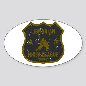 Librarian Ninja League Oval Sticker