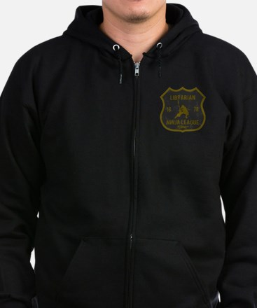 Librarian Ninja League Zip Hoodie (dark)
