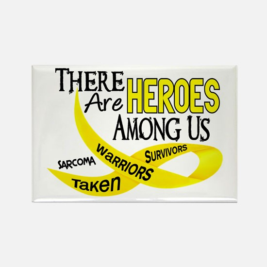 Heroes Among Us SARCOMA Rectangle Magnet