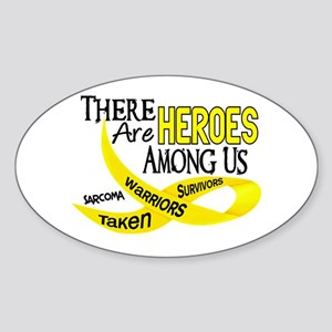 Heroes Among Us SARCOMA Oval Sticker