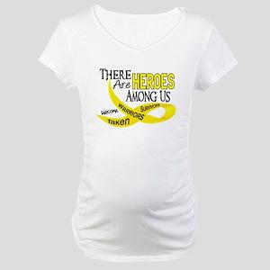 Heroes Among Us SARCOMA Maternity T-Shirt