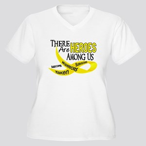 Heroes Among Us SARCOMA Women's Plus Size V-Neck T