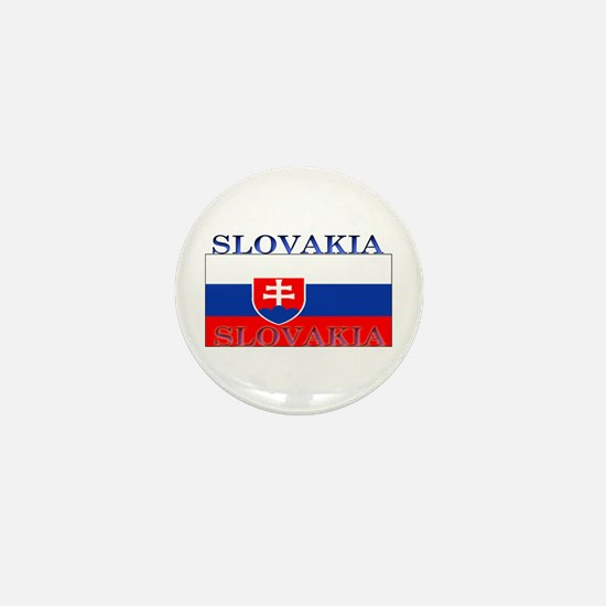 Slovakia Slovak Flag Mini Button