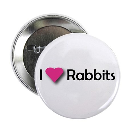 """I LUV RABBITS! 2.25"""" Button (100 pack)"""