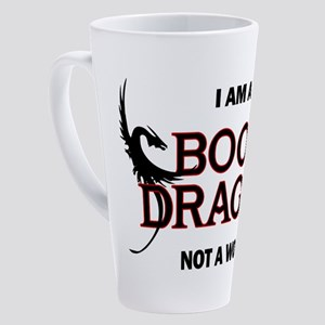 I am a Book Dragon 17 oz Latte Mug