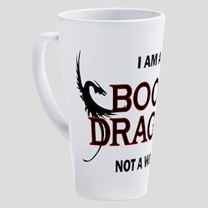 I am a Book Dragon 17 oz Latte Mug
