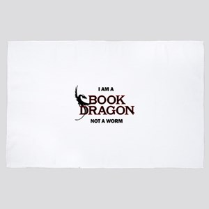 I am a Book Dragon not a Worm 4' x 6' Rug