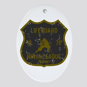Lifeguard Ninja League Oval Ornament