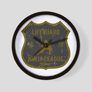 Lifeguard Ninja League Wall Clock