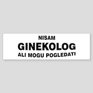 Ginekolog Bumper Sticker
