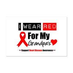 I Wear Red Grandpa Posters
