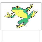 ASL Frog in Flight Yard Sign