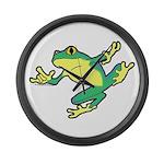 ASL Frog in Flight Large Wall Clock