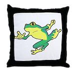 ASL Frog in Flight Throw Pillow