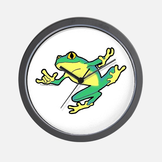 ASL Frog in Flight Wall Clock