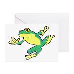 ASL Frog in Flight Greeting Cards (Pk of 20)
