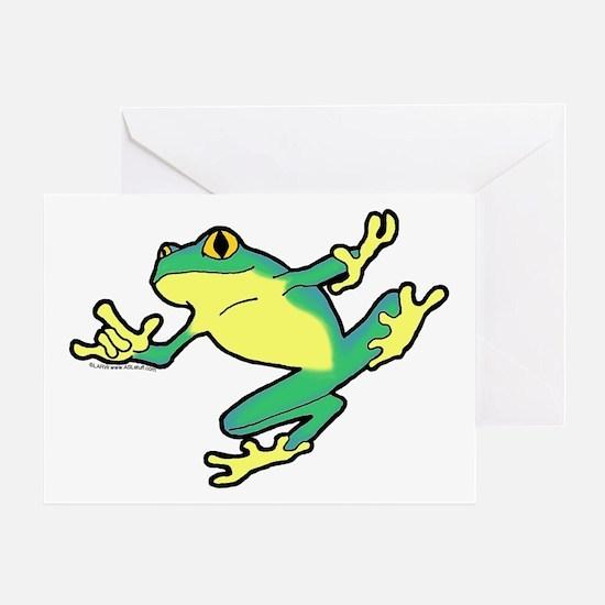 ASL Frog in Flight Greeting Card