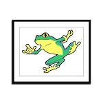ASL Frog in Flight Framed Panel Print
