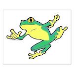 ASL Frog in Flight Small Poster
