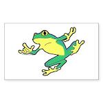 ASL Frog in Flight Rectangle Sticker 10 pk)